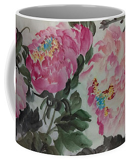 Coffee Mug featuring the painting Peoney20161230_624 by Dongling Sun