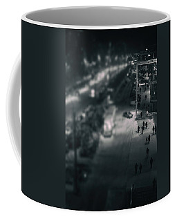People At Night From Arerial View Coffee Mug