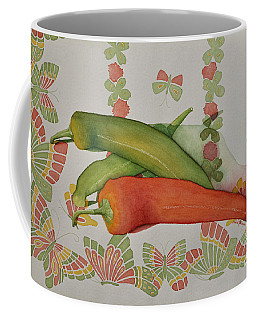 Peppers And Butterflies Coffee Mug
