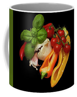 Peppers Basil Tomatoes Garlic Coffee Mug by David French