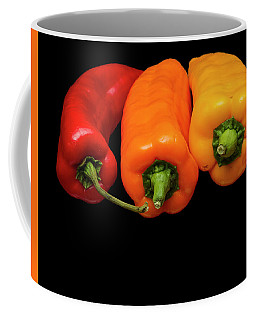 Peppers Red Yellow Orange Coffee Mug by David French