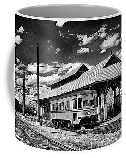 Coffee Mug featuring the photograph Philadelphia Trolley by Paul W Faust - Impressions of Light