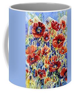 Picket Fence Poppies Coffee Mug