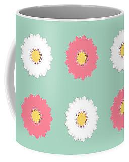 Coffee Mug featuring the digital art Pink And White by Elizabeth Lock