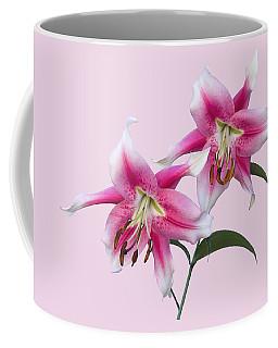 Pink And White Ot Lilies Coffee Mug by Jane McIlroy