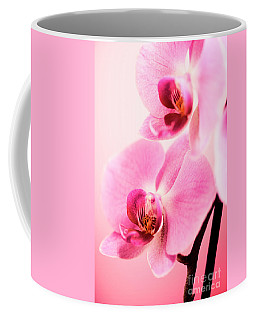 Pink Orchid Closeup Coffee Mug