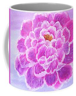 Coffee Mug featuring the painting Pink Peony by Sonya Nancy Capling-Bacle