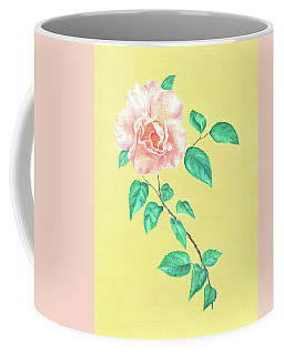 Coffee Mug featuring the painting Pink Rose by Elizabeth Lock