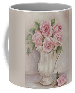 Pitcher Of Roses Coffee Mug