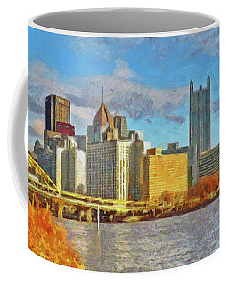 Pittsburgh From The Shore Of The Ohio River Coffee Mug