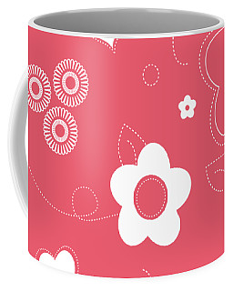 Playful Flower Background Coffee Mug by Serena King