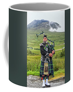 Playing Bagpiper Coffee Mug by Patricia Hofmeester