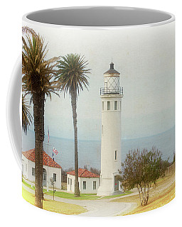 Point Vincente Lighthouse, California In Retro Style Coffee Mug