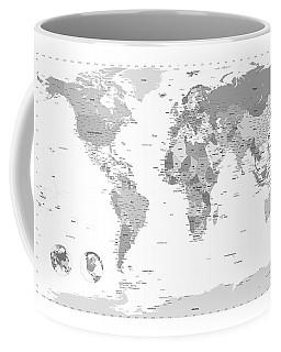 Political World Map Coffee Mug
