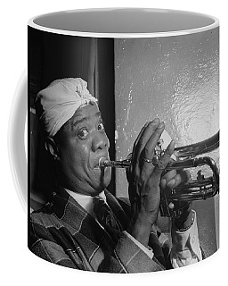 Coffee Mug featuring the painting Portrait Of Louis Armstrong by Artistic Panda