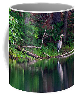 Posing Great Blue Heron  Coffee Mug