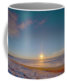 Prairie Winter Sunset Coffee Mug