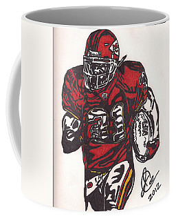 Coffee Mug featuring the drawing Priest Holmes 2 by Jeremiah Colley