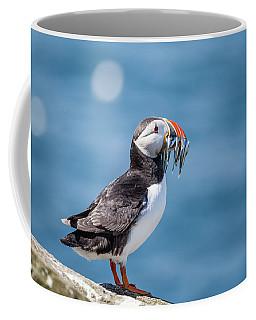 Puffin With Fish For Tea Coffee Mug