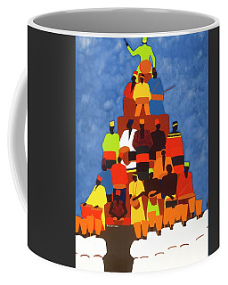 Pyramid Of African Drummers Coffee Mug