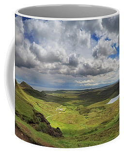 Coffee Mug featuring the photograph Quiraing And Trotternish - Panorama by Maria Gaellman