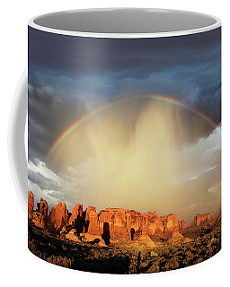Rainbow Over Garden Of Eden Coffee Mug