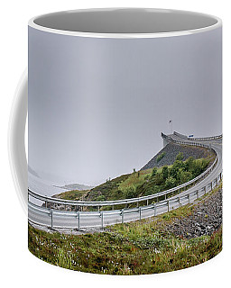 Coffee Mug featuring the photograph Rainy Day On Atlantic Road by Dmytro Korol