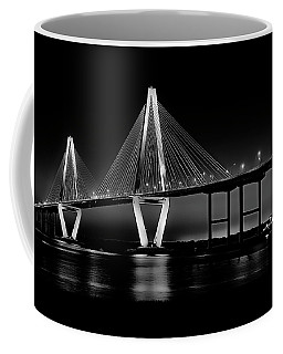 Coffee Mug featuring the photograph Ravenel Bridge by Bill Barber