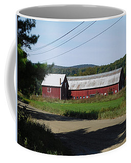 Red Barn In Coventry Vermont Coffee Mug