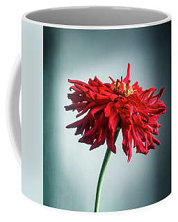 Coffee Mug featuring the photograph Red Dahlia by John Brink