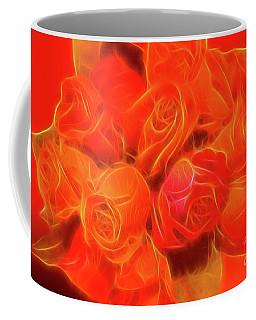 Red On Red Coffee Mug by Linda Phelps