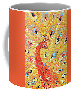 Red Peacock  Coffee Mug