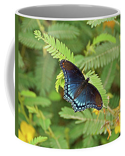 Coffee Mug featuring the photograph Red Spotted Purple Butterfly by Sandy Keeton