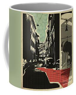 retro postcard of Bologna Coffee Mug