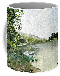 Coffee Mug featuring the painting River Light by Melly Terpening
