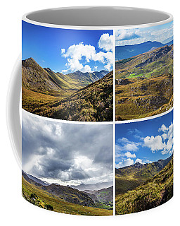 Coffee Mug featuring the photograph Postcard Of Rock Formation Landscape With Clouds And Sun Rays In Ireland by Semmick Photo