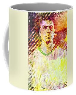 Coffee Mug featuring the mixed media Ronaldo by Svelby Art