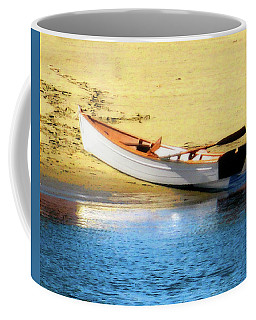 Rowboat At Mother's Beach Coffee Mug