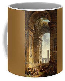 Ruins With An Obelisk In The Distance Coffee Mug