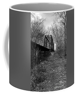 Rusty Railroad Trestle Bridge - Bw Coffee Mug