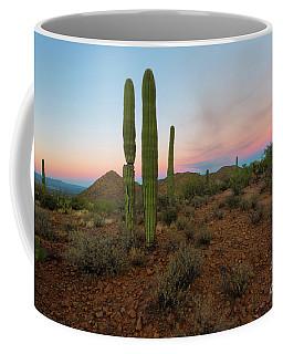 Coffee Mug featuring the photograph Saguaro Dusk by Mike Dawson