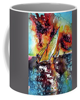 Sailboats At The Sunshine Coffee Mug by Kovacs Anna Brigitta