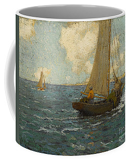 Sailboats On Calm Seas Coffee Mug