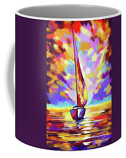 Sailbout Sunset Coffee Mug