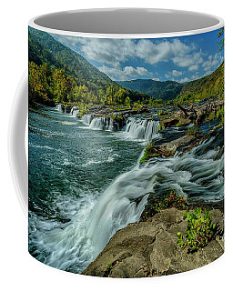 Coffee Mug featuring the photograph Sandstone Falls New River by Thomas R Fletcher