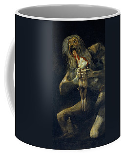 Coffee Mug featuring the painting Saturn Devouring His Son by Francisco Goya