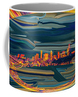 Coffee Mug featuring the digital art Seattle Swirl by Dale Stillman