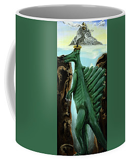 Coffee Mug featuring the painting Self-portrait- Meme by Ryan Demaree