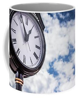 Coffee Mug featuring the photograph Clock And Clouds In Senoia, Georgia by Randy Bayne