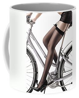 Sexy Woman Riding A Bike Coffee Mug